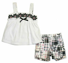 Nannette Outfit Set Baby Toddler Girls 2 Piece Summer Top Shorts 12M - 4T nwt