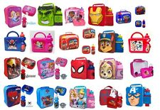 KIDS CHILDRENS CHARACTER SCHOOL LUNCH BOX INSULATED LUNCH BAG NURSERY TRAVEL