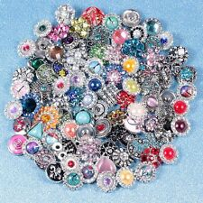New 50pcs mixed styles assorted ginger 18mm metal snap charm buttons wholesale