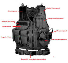 Army Combat Tactical Vest Military Protective Airsoft Camouflage Molle Vest