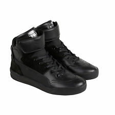 Puma MCQ Move Mid Mens Mens Black Leather High Top Velcro Sneakers Shoes