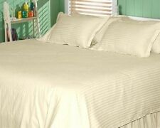 STRIPE IVORY 1000TC EGYPTIAN COTTON COMPLETE BEDDING COLLECTION SHEET SET