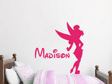 Personalized Name Wall Decal Tinkerbell Disney Vinyl Decal Sticker Nursery ZX75