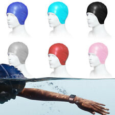 Adults Elastic Silicone Swimming Swim Cap Hair Protection Bathing Hat Ears