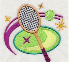 Love of Tennis Towels ~ Embroidered Hand Bath & Towel sets ~ Retro