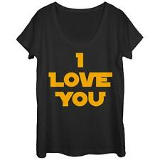 Womans: Star Wars- I Love You Scoop Neck Ladies T-Shirt Black New Shirt