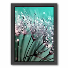 East Urban Home Dandelion Flower With Water Drops Framed Graphic Art