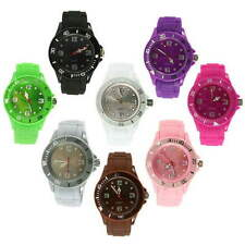 Silicon Jelly Strap Unisex Women Lady Wrist Watch Colorful BH