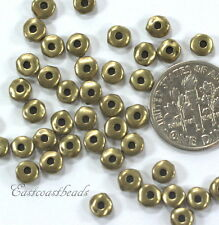 Nugget Beads, TierraCast, 5mm, Antiq Brass, Coin Spacer Beads 20 /100 Pcs, 3527