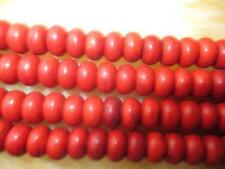 """5x8mm Red Abacus Turquoise Gemstone Loose Beads 15"""" ##HL039"""