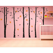 Large Forest Trees Birds Removable Vinyl Living Room Wall Decor Decal Stickers