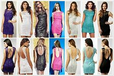 FINALE SALE - New Lipsy Lace BNWT £45 Low Back Club Evening Bodycon Party Dress