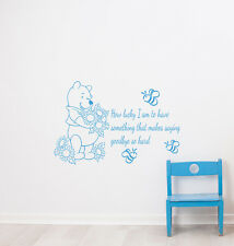 Winnie the Pooh Wall Decal How Lucky Am I Vinyl Quote Decal Home Decor Kids L511