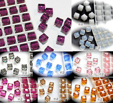 Authentic #5601 Swarovski Crystal Cube Square Beads 6mm pick colors 10pcs SALE