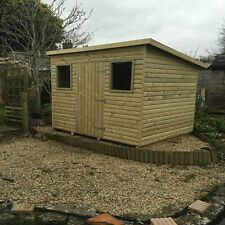 Heavy Duty Pent Garden Sheds Tanalised Fully T&G Log Lap Top Quality garden shed