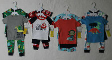 NEW CARTERS BOYS 4 PIECE PAJAMA SET VARIOUS SIZES AND STYLES