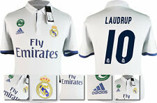 *16 / 17 - ADIDAS ; REAL MADRID HOME SHIRT SS / LAUDRUP 10 = KIDS SIZE*