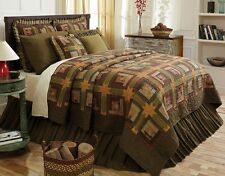 4PC Tea Cabin Quilt Set - Quilted Bedding Set by VHC Brands - SELECT ANY SIZE