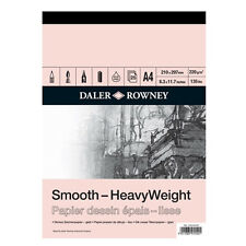 DALER ROWNEY SMOOTH SURFACE HEAVYWEIGHT CARTRIDGE PAPER PADS