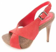 BCBGeneration Womens GREER Suede Open Toe Special Occasion Slingback Sandals