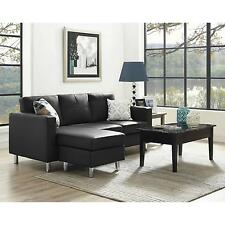 Dorel Living Small Spaces Configurable Sectional Sofa Black Brown Gray Couch NEW