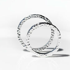 Hammered Band Promise Ring Set for Couples 925 Sterling Silver Size Men Rings