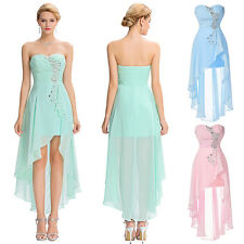 Women Chiffon Long Evening Party Dress Formal Wedding Bridesmaid Ball Prom Gown