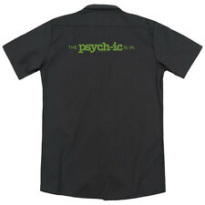 Psych The Psychic Is In (Back Print) Mens Work Shirt BLACK