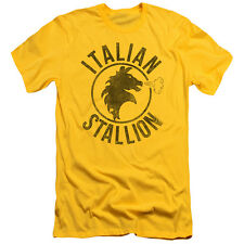 Rocky Italian Stallion Horse Mens Slim Fit Shirt YELLOW