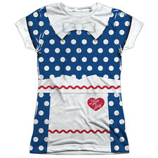 I Love Lucy Lucy Costume Juniors Sublimation Polyester Shirt White