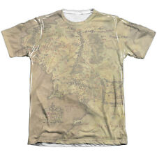 The Lord of the Rings Middle Earth Map Mens Sublimation Shirt White