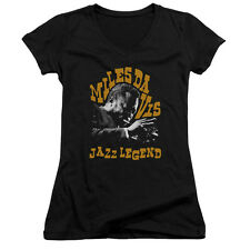 Miles Davis Jazz Legend Juniors V-Neck Shirt