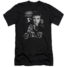 Elvis The King Rides Again Mens Slim Fit Shirt