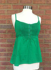 MINUET Quality Tie Back Cotton CUTE Casual GREEN Top NEW Size Jr S, M, L