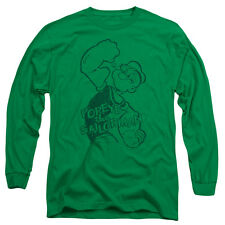 Popeye Spinach Strong Mens Long Sleeve Shirt