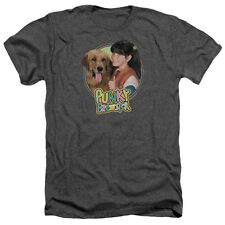 Punky Brewster Punky & Brandon Mens Heather Shirt CHARCOAL