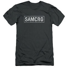 Sons Of Anarchy Samcro Mens Slim Fit Shirt Charcoal