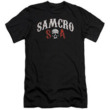 Sons Of Anarchy Samcro Forever Mens Slim Fit Shirt Black