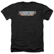 Saturday Night Fever Logo Mens Heather Shirt Black