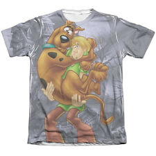 Scooby Doo Scooby And Shaggy Mens Sublimation Poly Cotton Shirt