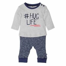 Fox & Finch Baby Greenwich Hug Life Romper in Black