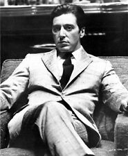 Al Pacino sitting on a Chair, Cross Legs Pose in Formal Outfit Black and White H