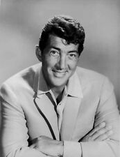 Dean Martin and Jerry Lewis smiling in White Suit High Quality Photo