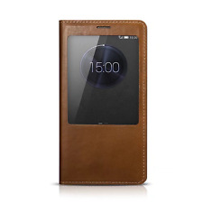 For Huawei Mate 7 Smart View Window Thin Genuine Leather Flip Stand Case Cover