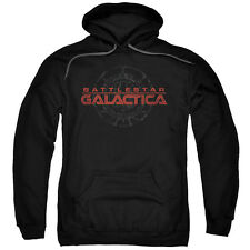 Battlestar Galactica TV Series Battered Logo Adult Pull-Over Hoodie