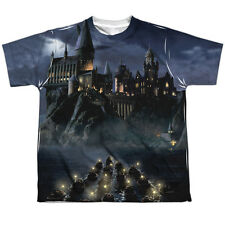 Harry Potter Hogwarts Big Boys Youth Sublimated Polyester Shirt