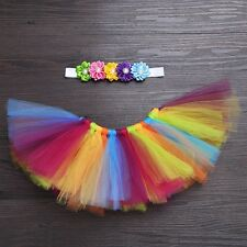 Baby Girls Tutu Dress Skirt Hair Band Costume Photography Photo Prop Outfits