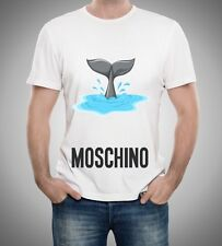 White Men Mens Modern Sexy New T-Shirt Tee Sea Summer Love Moschino 2017