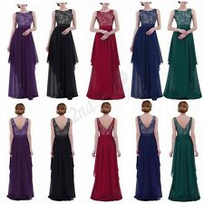 Women Formal Lace Long Dress Prom Evening Party Cocktail Bridesmaid Wedding