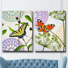 Red Barrel Studio 'In the Meadow I/II' 2 Piece Graphic Art Print Set on Canvas